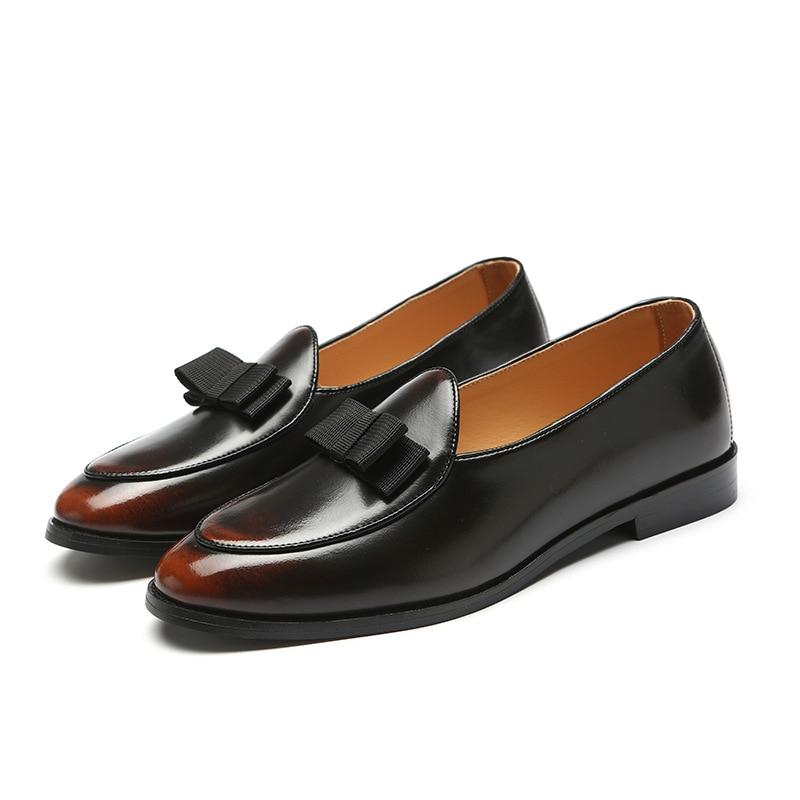 M-anxiu Gradine Cor Sapatos Formais Homens Vestido de Festa de Casamento Dedo Apontado Ocasional de Lazer Shoes transporte da gota 2019 Novo projeto