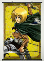 Wall Scroll Poster Fabric Printing For Anime Attack On Titan Armin Arlert