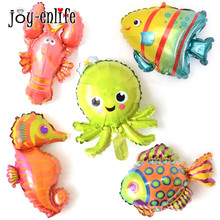 5pcs Inflatable Fish Toys Balloons Mermaid Party Baby Shark Birthday Decoration Mini Under The Sea Theme Animal Ballon