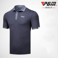 Pgm Mens T Shirts Short Sleeve Sports Dress T Shirt Breathable Stand Collar Golf Shirt Tops Tees Running Sports Clothing AA11822