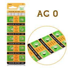 Ycdc поле Хит продаж 10 шт. AG0 LR521 379 кнопки сотового монет щелочных Батарея 1.55 В для часов игрушки EE6201