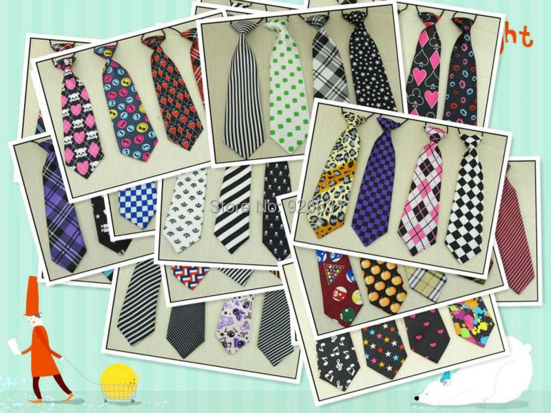 Ehrlich 10 Teile/los Mehr Als 100 Farbe Kinder Krawatte Baby Fashion Must-have Musik Sterne Muster Wie Der Gitarre Kleine Krawatte