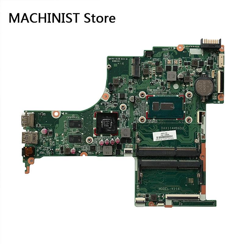 Original For HP pavilion 15 AB027TX 15 AB031NW TPN Q159 laptop notebook motherboard I3 5020U AMD R7 M360 820001 601 DAX11AMB6D0
