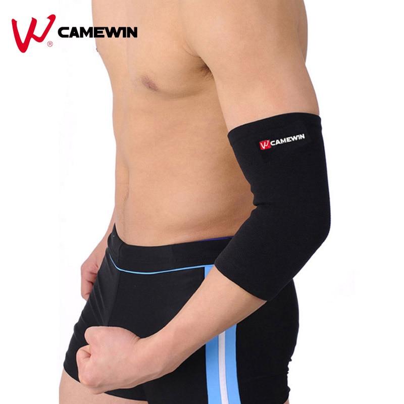1 Pièce CAMEWIN Marque Coudière Protecteur Prévenir L'arthrite Traumatismes Dus à la Élastique Pad Chaud Sports de Plein Air Coude Garde Brace