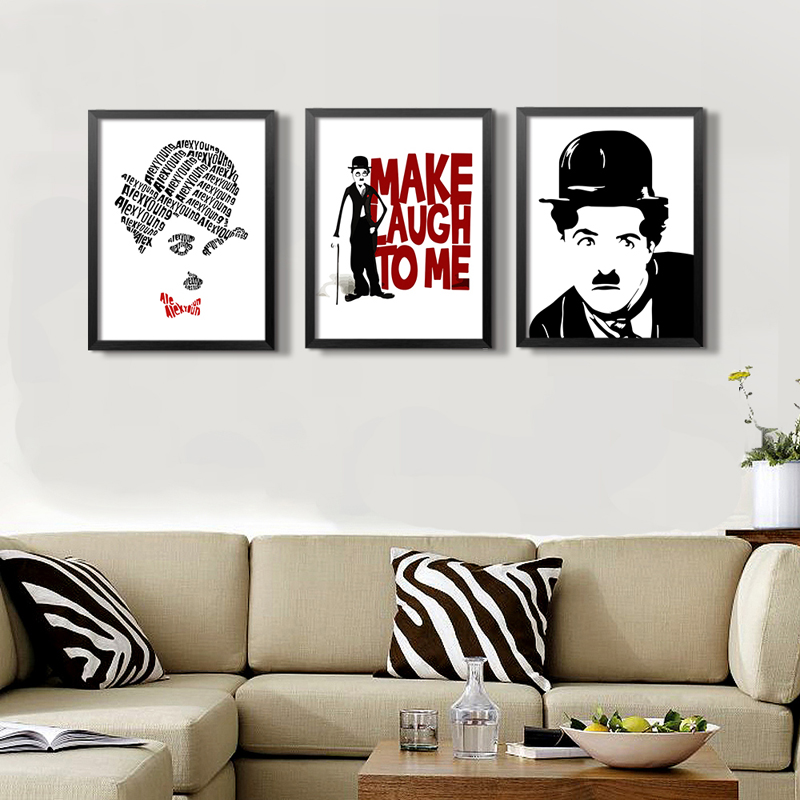 Clásico Chaplin cotizaciones figura lienzo pintura cartel ...