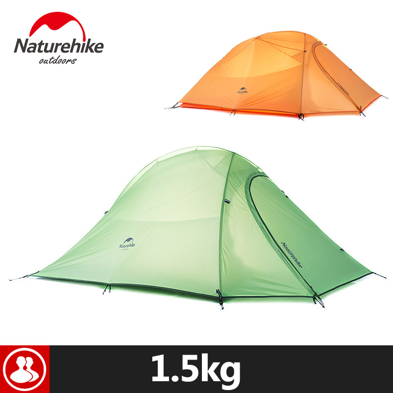 Naturehike Camping Tent For 2 Person Hiking Holiday 4Season 20D Silicone Fabric Double layer Rainproof Outdoor Camp Beach Tent naturehike 3 person camping tent 20d 210t fabric waterproof double layer one bedroom 3 season aluminum rod outdoor camp tent