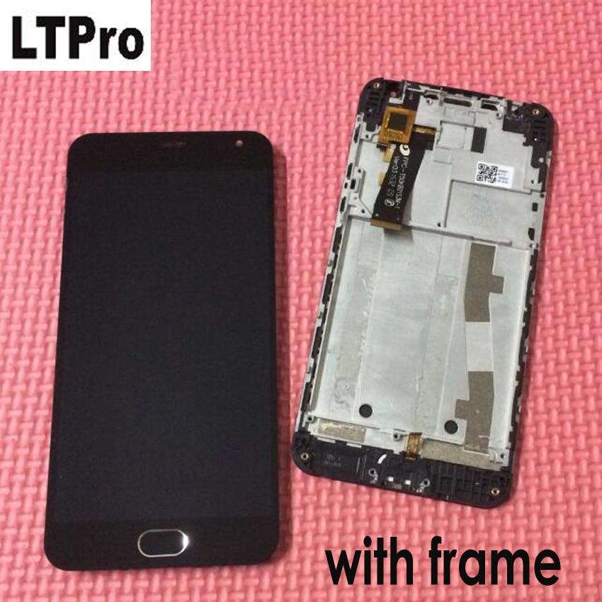 LTPro 100% Tested LCD Display Touch Screen Digitizer Assembly + Frame + casa fondo Per Il Meizu m2 Meilan 2 Per meizu m2 mini Cellulare