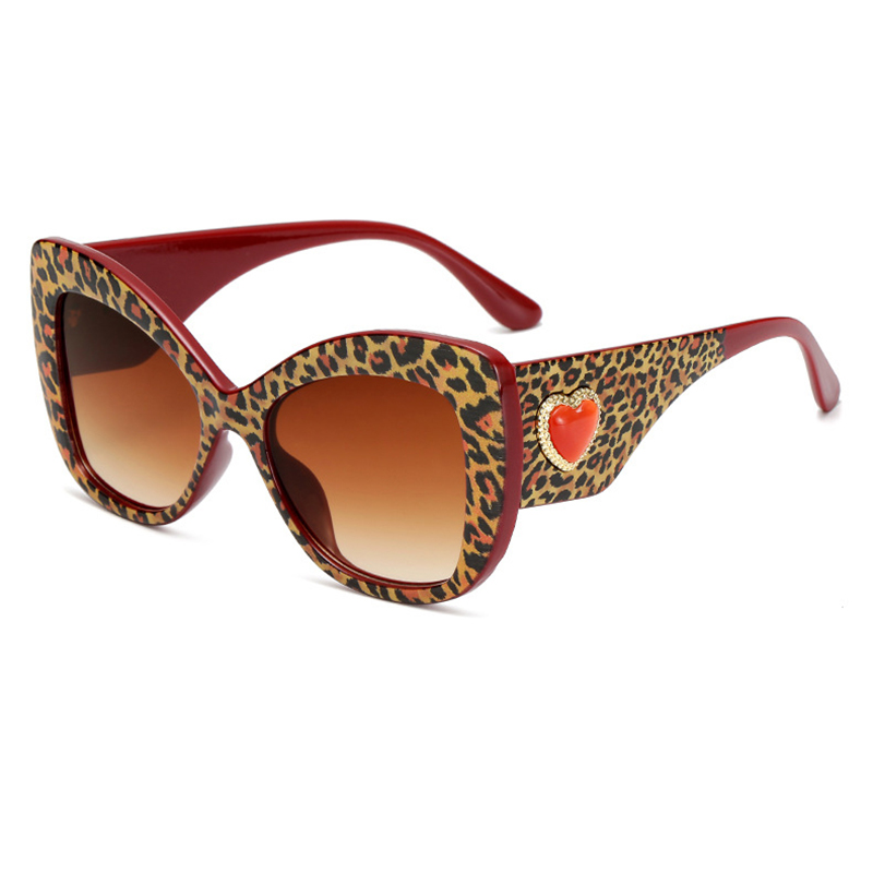 Women Cat Eye Sunglasses Fashion Ladies Luxury Shade Sun Glasses Heart Temple Design Leopard Tortoiseshell Butterfly Frame L3 in Women 39 s Sunglasses from Apparel Accessories