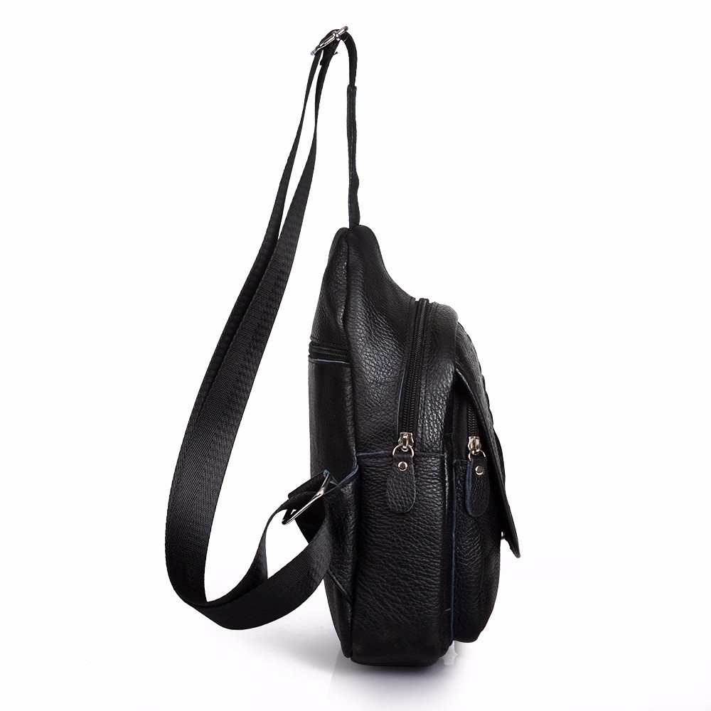 Casual Cow genuine leather Men bag Crossbody chest Bags Men Messenger Bags Single Shoulder Chest men's travel bags handbags (3)