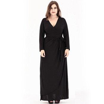 Bohemian Maxi Plus Size Ankle-Length Long Dress