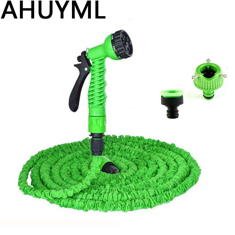 25-200FT Expandable Magic Flexible Garden Water Hose For Car Hose Pipe Plastic Hoses To Watering With Spray Telescopic Water Gun(China)