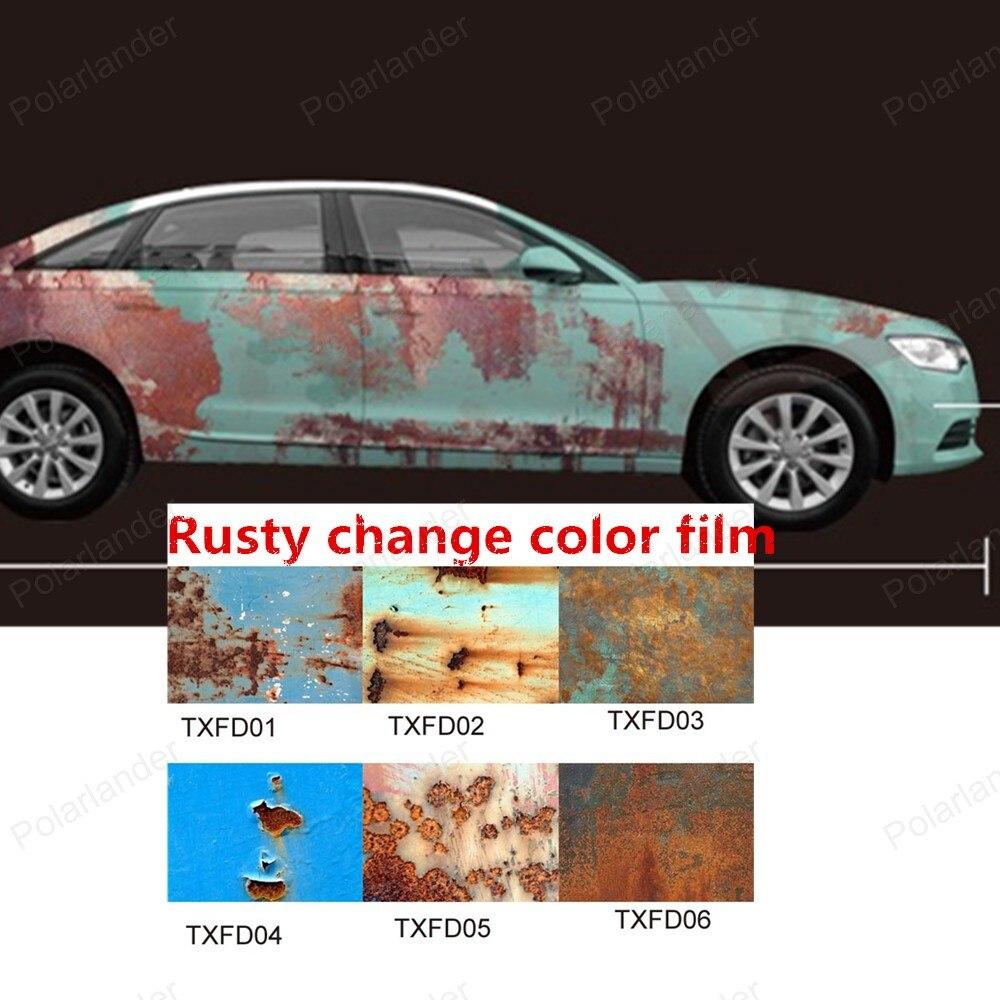 Car body sticker design malaysia - 150x20m Roll Rust Vinyl Car Wrap Full Body Car Sticker Rusty Stylegraffiti Highlight Film Car