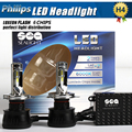 1xPair 90W 10800LM P Hilips LED Headlight  H1 H3 H4 H7 H8 H9 H11 9003 9005 9006 9012 9004 9007 H13 Car LED Headlight Bulbs