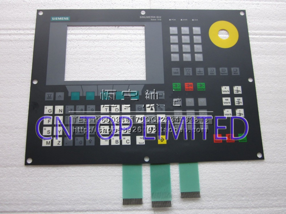 New Touch Screen panel Membrane Keypad operation panel Button mask for 802C 802S 802SE new membrane keypad operation panel button mask for mp270 6av6542 0ac15 2ax0