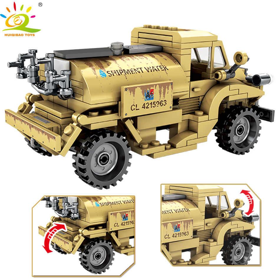 HUIQIBAO لعب 284 قطعة الجيش كندا CMP C15A شاحنة اللبنات للأطفال Legoingly العسكرية WW2 مركبة الجندي الشكل الطوب