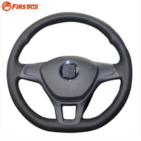 Car Styling DIY Black Leather Steering Wheel Cover For Volkswagen VW Golf 7 Mk7 New Polo