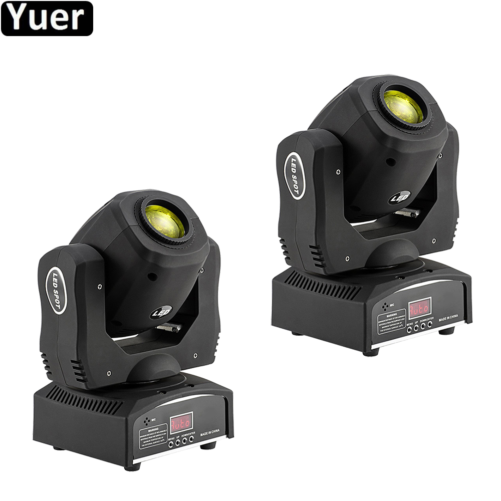 2Pcs/Lot LED Spot Moving Head Light 60W Mini LED Music Stage Light Gobo Moving Heads Lights Disco DJ Equipment Stage Lighting Effect     - title=