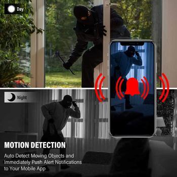 Cam Nounou Sans Fil   HYUCHON WiFi Mini Caméra Sans Fil HD 1080 P Caméra Nounou Avec Vue à Distance/détection De Mouvement/enregistreur De Sécurité IP Vision Nocturne
