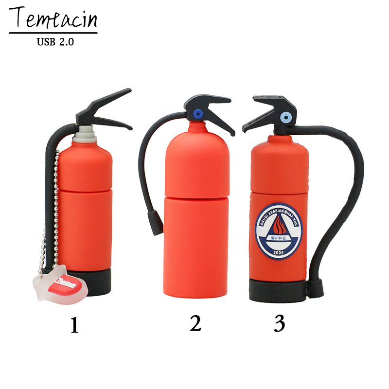 PenDrive Fire Extinguisher Bottle Pen Drive 4GB 8GB 16GB 32GB Annihilator USB Flash Drive Flash Drive USB Drive USB Stick