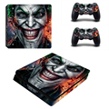 JokerMan Decal Skin Ps4 Slim console Cover For Playstaion 4 Console PS4 Slim Skin Stickers+ 2Pcs Controller Protective Skins