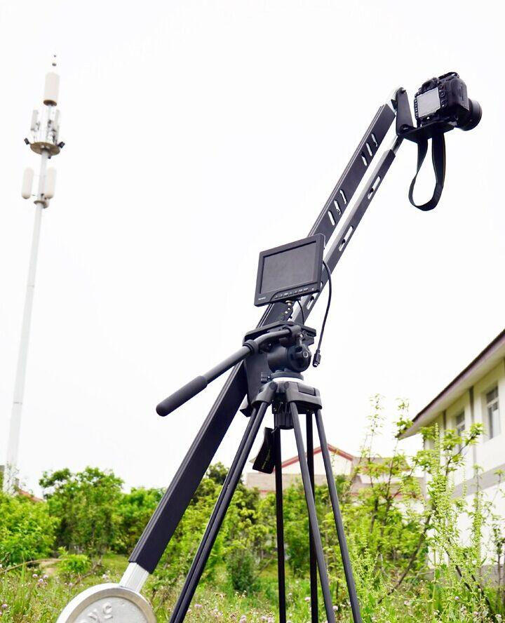 Wesis 8ft Max Load To 20KG jib crane  Portable Pro DSLR Video Camera Crane  2.7M Jib Arm Standard Version Bag professional dv camera crane jib 3m 6m 19 ft square for video camera filming with 2 axis motorized head