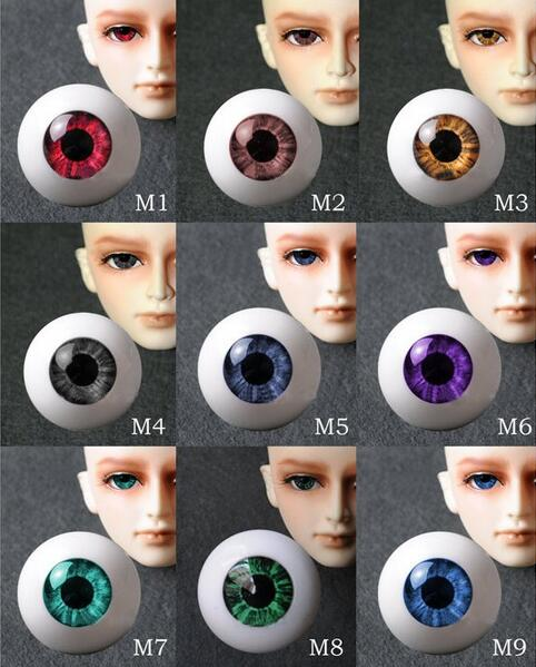 New 8mm 10mm 12mm 14mm 16mm 18mm 20mm 22mm 24mm 26mm 9 Colors Pressure Eye Acrylic Doll's Eyeballs SD MSD BJD Doll Eyes