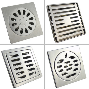 304 Stainless Steel Deodorant Floor Drain 10cm*10cm Not Rust Floor Drain Stainless Steel Deodorant Home Improvement Toiletries