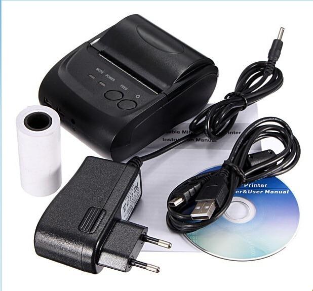 10 Sets Draagbare Bluetooth Draadloze Thermische Printer Afdrukken Ontvangst Printer Met Lithium Batterij Voor Android