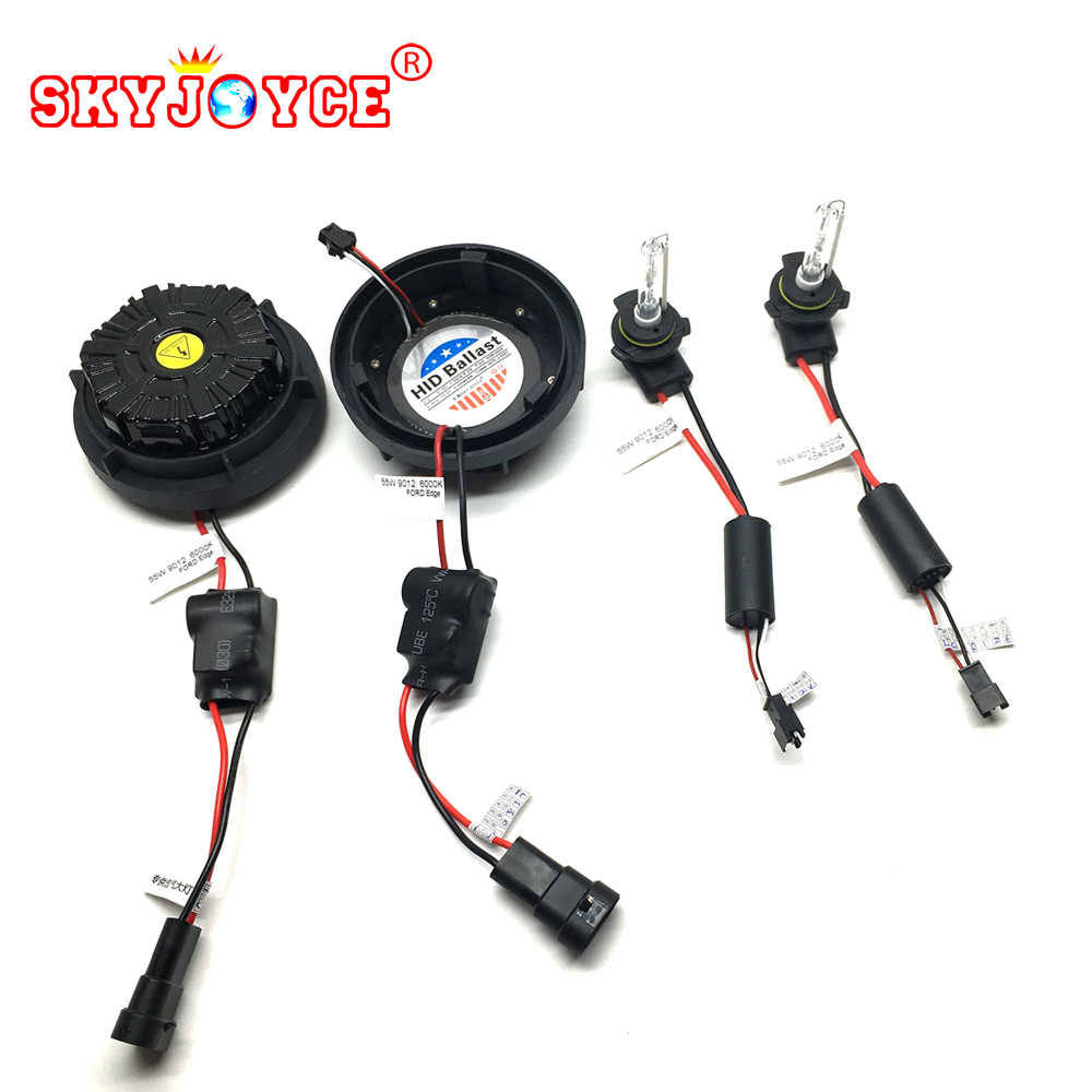 SKYJOYCE Plug and Play 55W hir2 9012 bulbs hid headlight kit 6000K 9012 bixenon projector lens bulb brighter 9012 hir2