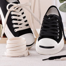 Pure Cotton Shoelaces High-top Low-top Canvas Shoes laces 7 mm Width 100/120/140/160 cm Women Men Shoelaces Dropship(China)