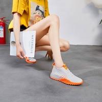 Women Casual Hard Wearing Shoes Summer 2018 Spring Women Flats Shoes Fashion Breathable Vulcanization Lace Up Women Sneakers