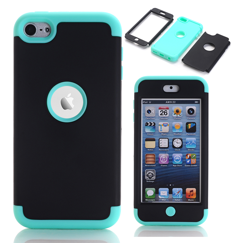 För Apple iPod Touch 6 Shockproof Case Cover Hybrid Hard Impact & Silikonfodral Fundas w / skärmskyddsfilm + Stylus Pen