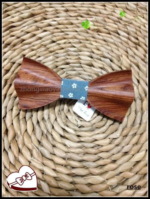 Ручной работы цветок лук галстук Модный ретро моды древесины галстуки свадьбу в Западной Европе