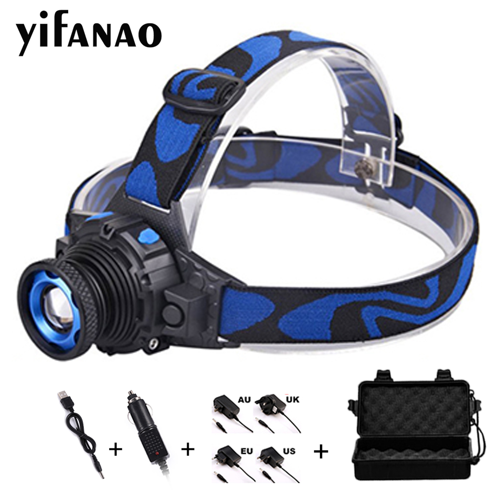 6000 LM LED Headlamp Zoomable Head Torch Light 3 modes Frontal Lantern AAA