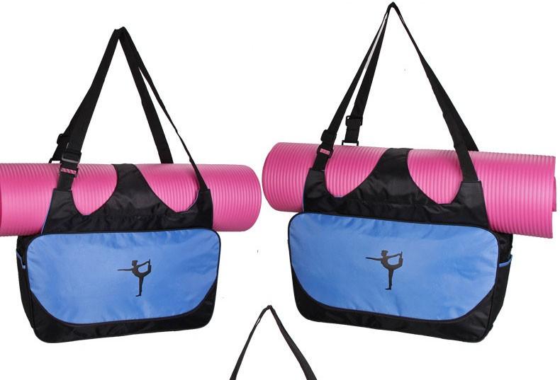 Mata yoga bag wodoodporny plecak na ramię messenger torba sportowa dla kobiet fitness ubrania siłownia duffel torba (nie yoga mat) 2