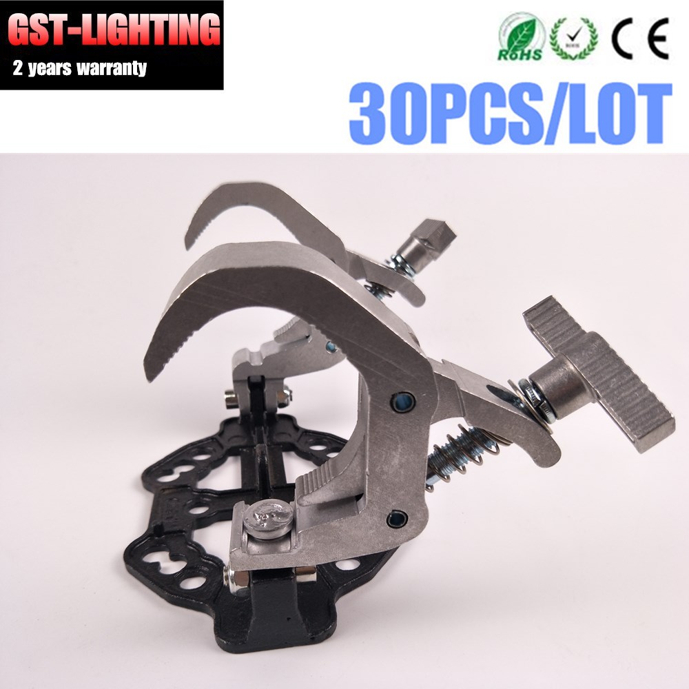 30pcs clamp hook double Aluminium Material Stage Light can be acolpate inside flycase not need retire