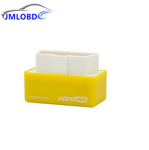 2018 Yellow High Quality Plug and Drive NitroOBD2 Performance Chip Tuning Box for Benzine Cars Nitro OBD2 Chip Tuning Box