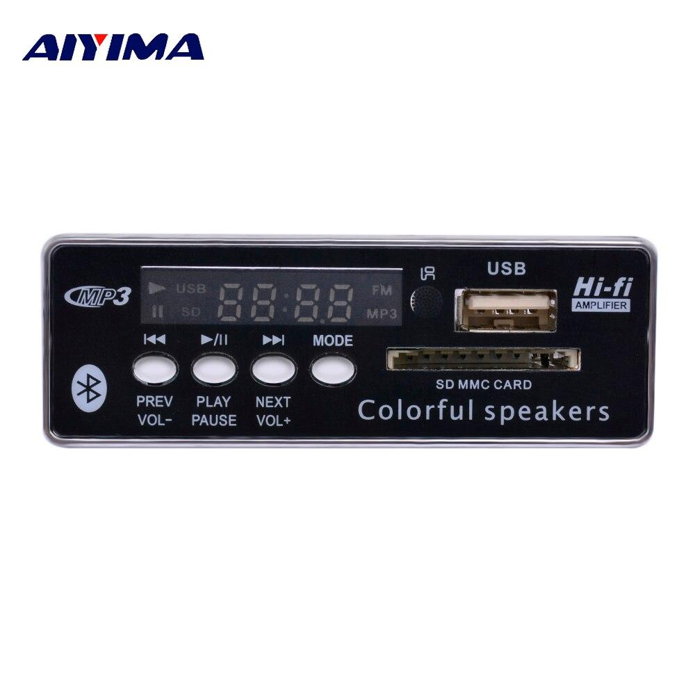 AIYIMA MP3 Decodificador Bordo Do Bluetooth AUX USB Placa de Decodificação Música Com FM DIY Para Amplificadores de Áudio Home Theater