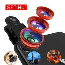 Универсальный 3 в 1 Широкий формат макро объектив рыбий глаз Камера Объективы для мобильных телефонов рыбий глаз Lentes для iPhone 6 7 смартфон микроскоп