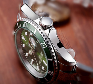 Image 5 - Reginald Horloge Mannen Gmt Draaibare Bezel Japan Miyota 2115 Movt Volledige Rvs Quartz Horloges Relogio Masculino