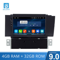 Besina Android 9.0 Car DVD Player For Citroen C4 C4L DS4 Multimedia GPS Navigation WIFI Octa 8 Cores 4GB RAM Radio