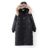 Winter Women Fur Parka Female Lady Green Black Color Plus Size Fur Coat Long Parka Jacket