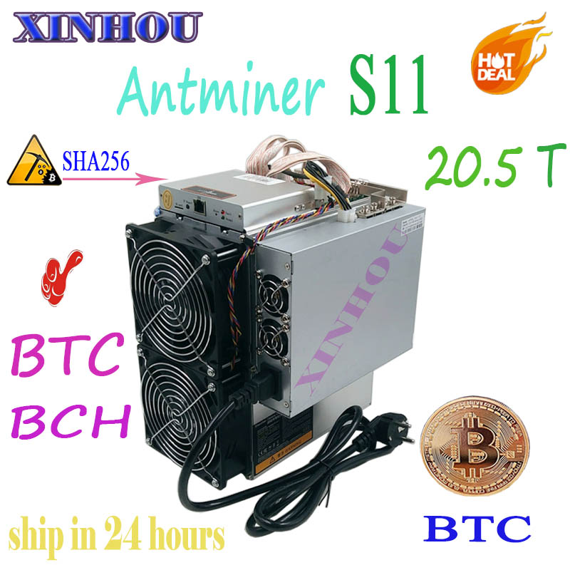 Mais novo asic Antminer S11 20.5 T 16nm SHA256 BCH BTC Miner Better Than S9 S15 T15 T9 V9 Z9 WhatsMiner m10 M3 Innosilicon T2 baikal
