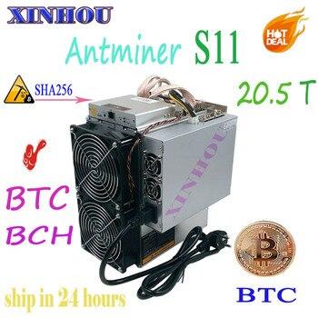 Plus récent Antminer S11 20.5 T 16nm asic SHA256 BTC BCH Mineur Mieux que S9 S15 T15 T9 V9 Z9 WhatsMiner M10 M3 Innosilicon T2 baïkal