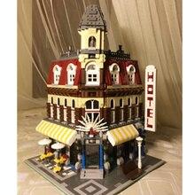 Nuevo 2133 Unids LEPIN 15002 Creadores Cafe Esquina Kid Juguete de Regalo Kits de Edificio Modelo Bloques Minifigure Compatible Con 10182