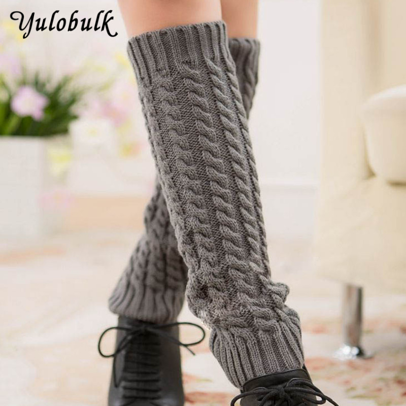 Women's Socks & Hosiery Classic Women Thick Leg Warmers Twist Boot Cuffs Knee High Knit Boot Socks Winter Boot Covers Gaiters Beenwarmers Calentadores Beneficial To Essential Medulla