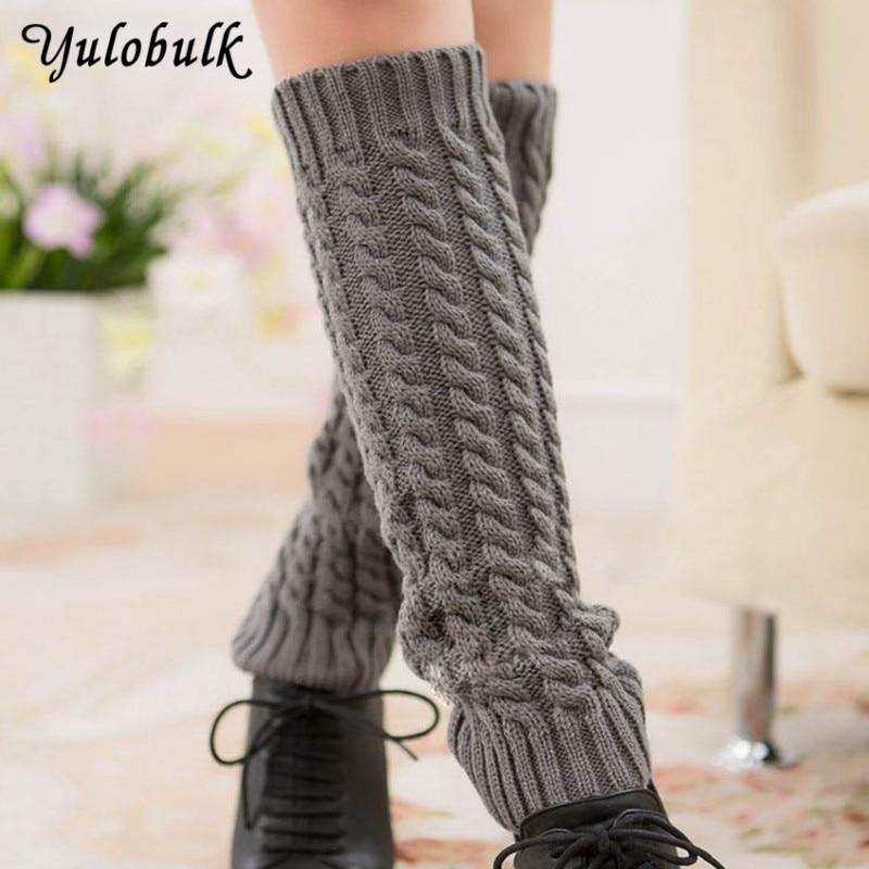 5372b3d50 yulobulk Women Leg Warmers Knit Boot Socks Winter Gaiters