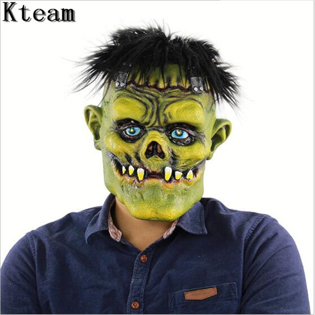 Realistic Scary Halloween Masks.Us 24 43 6 Off Horror Halloween Mask Black Hair Ghost Scary Mask Props Grudge Ghost Hedging Zombie Mask Realistic Masquerade Party Clown Mask In