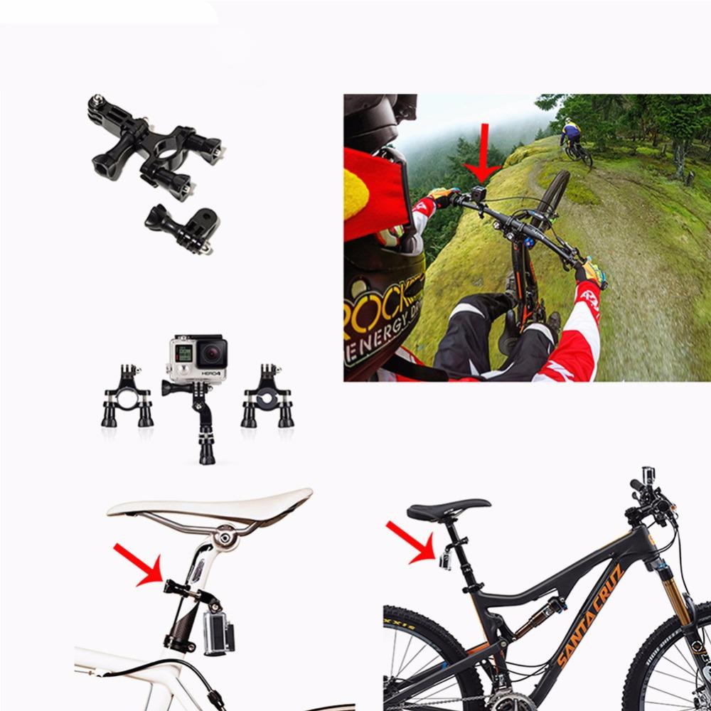 Bicycle Handlebar Mount for SJCAM 5000+ for GoPro three Way stick