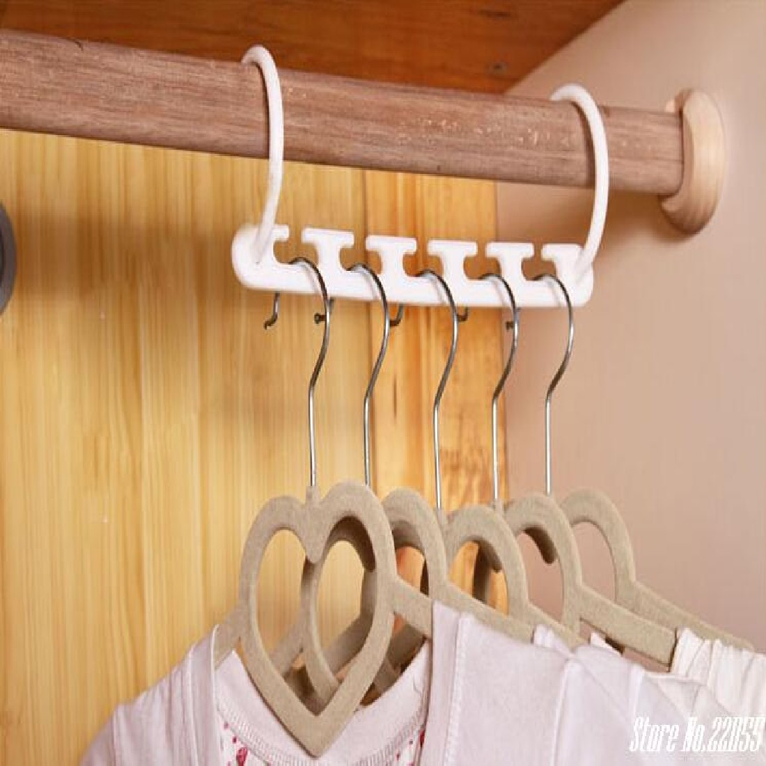 New 8pcs 3D Space Saving Space Hanger clothes Hook Plastic Magical Hanger Clothes Storage Space Saving